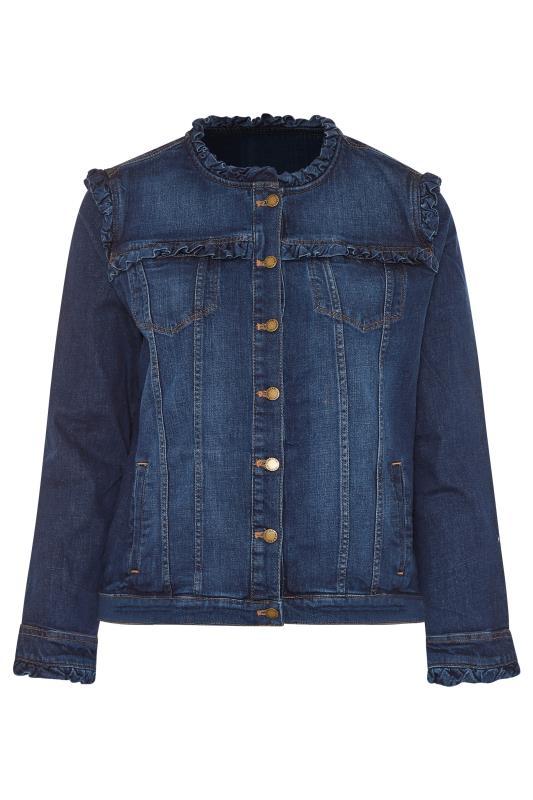 Tall  KARL LAGERFELD PARIS Blue Ruffle Denim Jacket