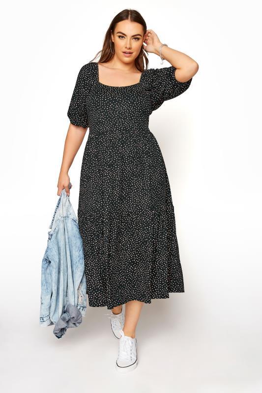 Black Polka Dot Square Neck Midaxi Dress_B.jpg