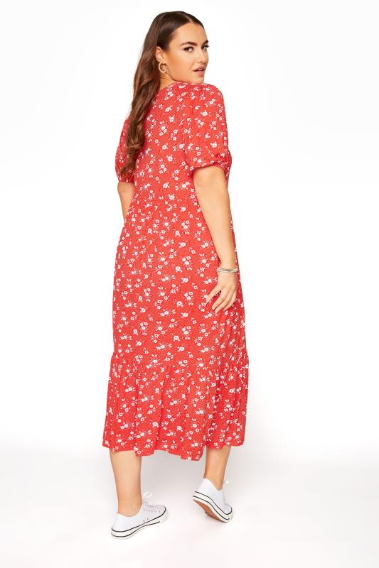 Red Floral Short Sleeve Midi Dress_C.jpg