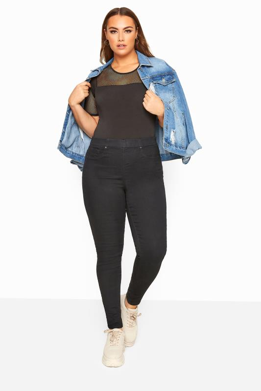 Jeggings Grande Taille Black Pull On JENNY Jeggings