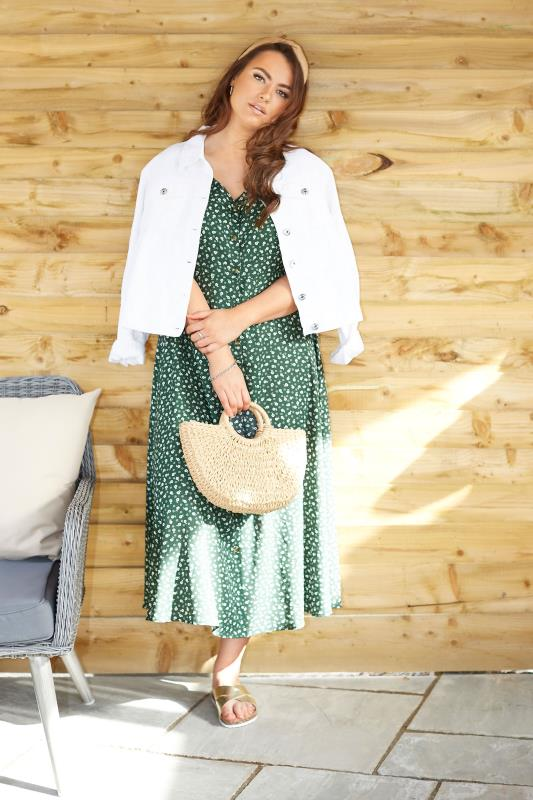 LIMITED COLLECTION Sage Ditsy Maxi Tea Dress_L2.jpg