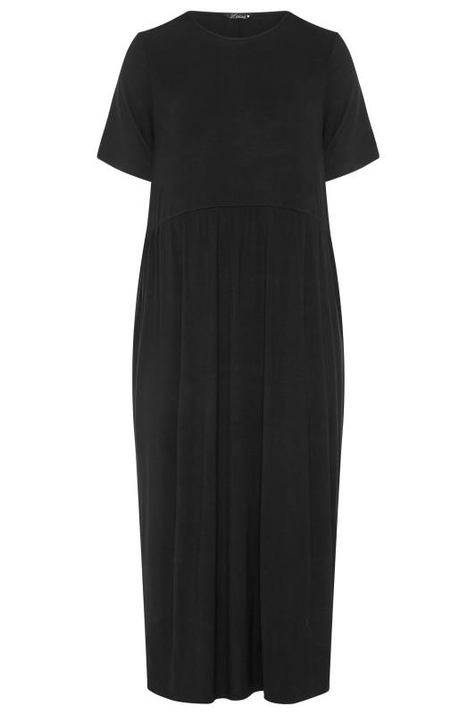 LIMITED COLLECTION Black Throw On Maxi Dress_F.jpg