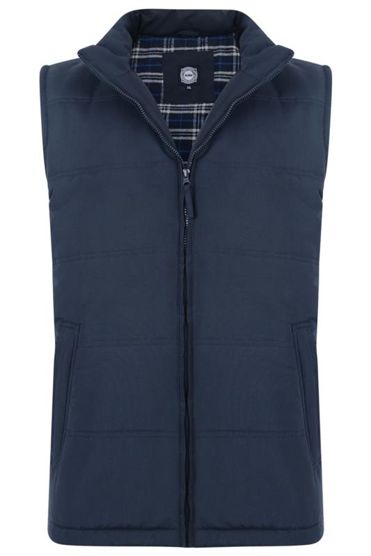 Plus Size  KAM Navy Quilted Gilet