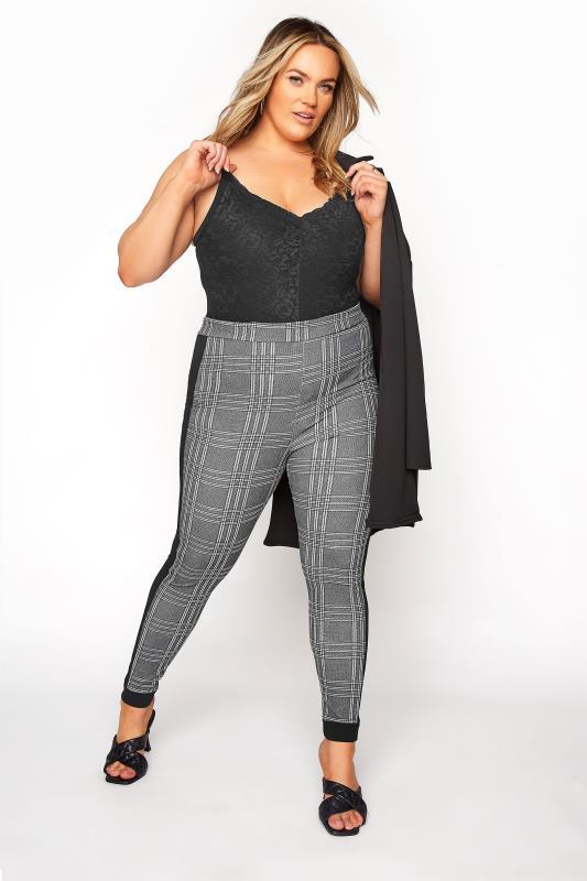 Black and White Side Stripe Scuba Trousers_B.jpg