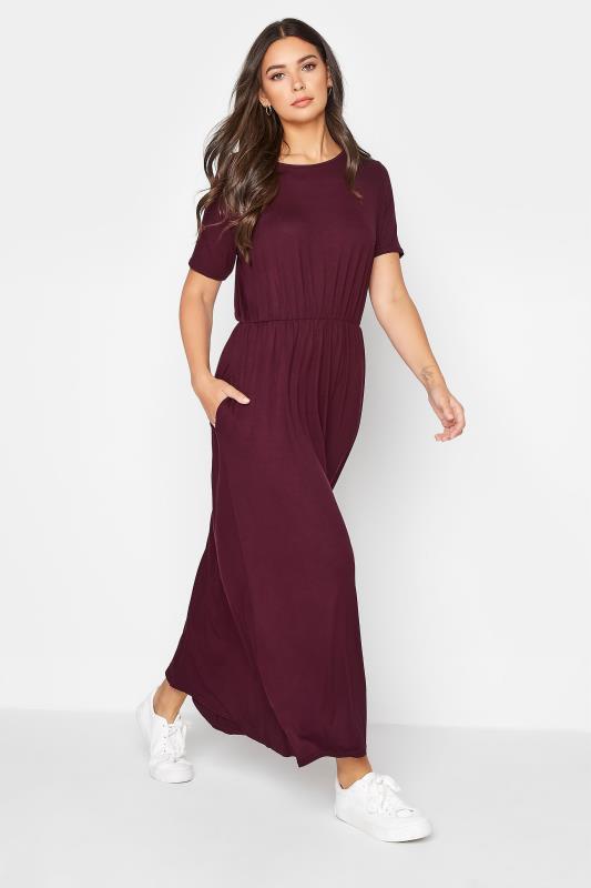 Tall  LTS Burgundy Pocket Midaxi Dress