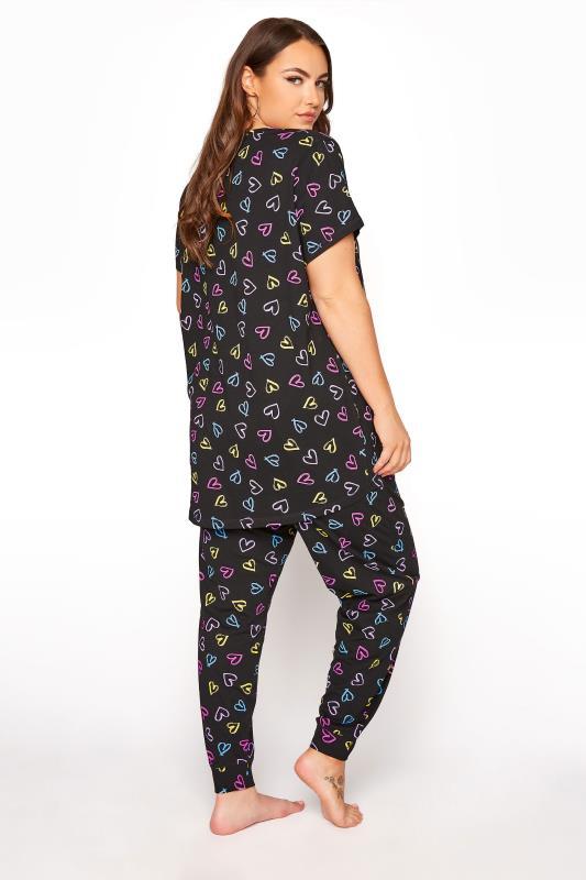 Black Sketch Heart Pyjama Bottoms_C.jpg