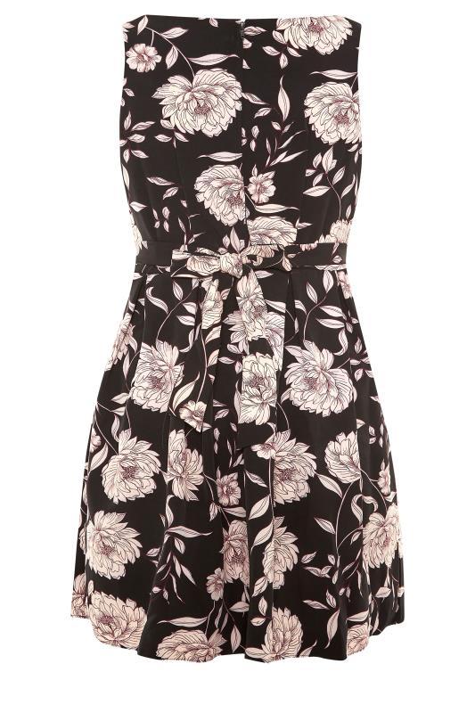 Black Floral Print Skater Midi Dress_BK.jpg