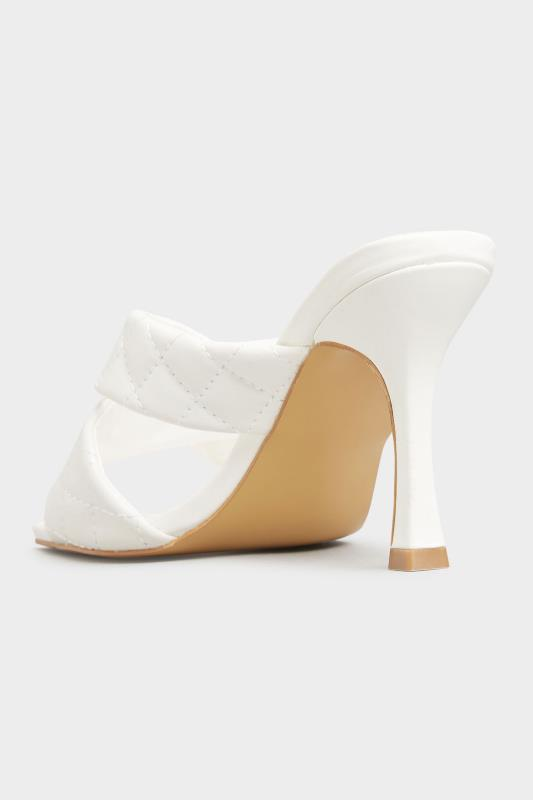 LIMITED COLLECTION White Cross Quilted Stiletto Mules In Extra Wide Fit_C.jpg