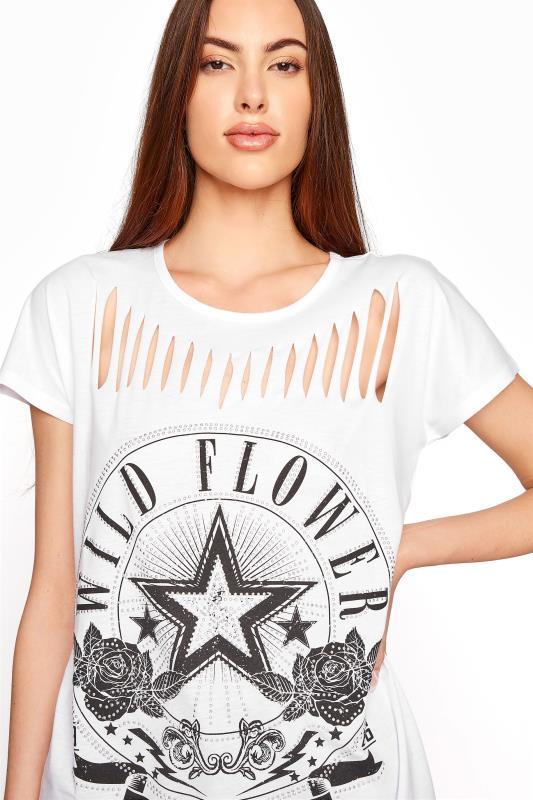 LTS White Laser Cut 'Wild Flower' T-Shirt_D.jpg