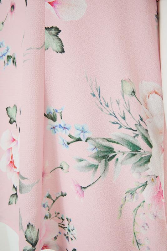 YOURS LONDON Pink Floral Angel Sleeve Blouse_s.jpg