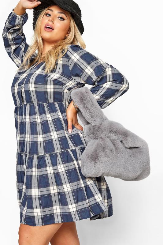 Grey Vegan Fur Bag