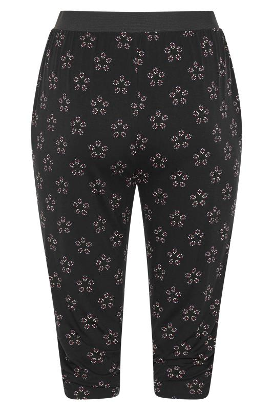 Black Daisy Geometric Crop Harem Trousers_BK.jpg