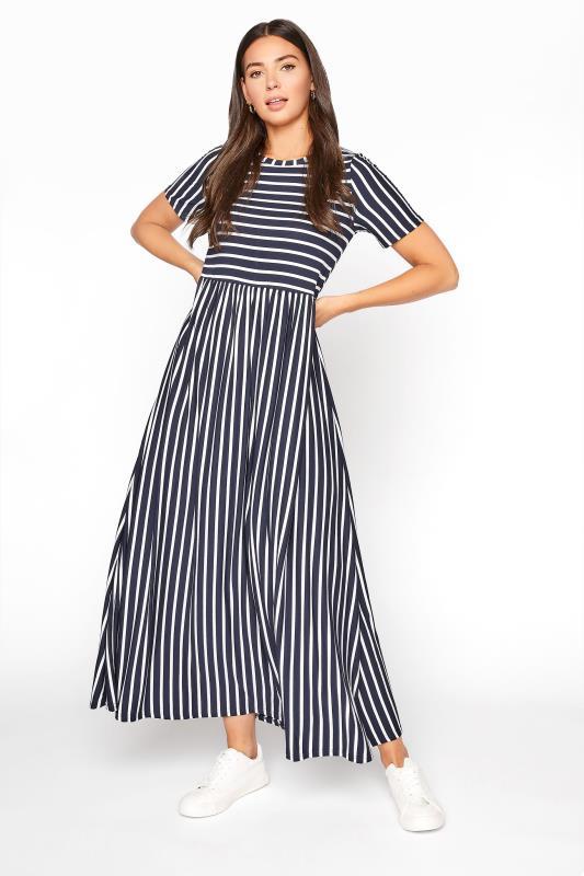 Tall  LTS Navy Stripe Midi Dress