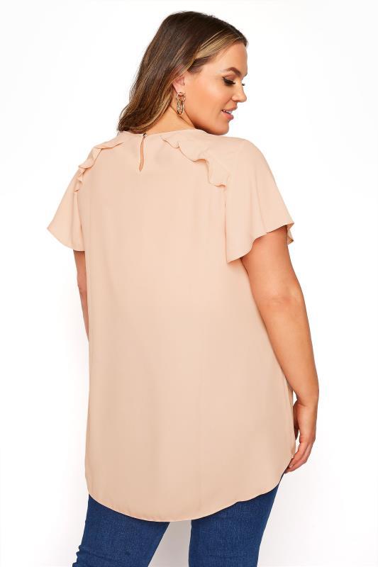 Peach Angel Sleeve Frill Shoulder Tunic_C.jpg
