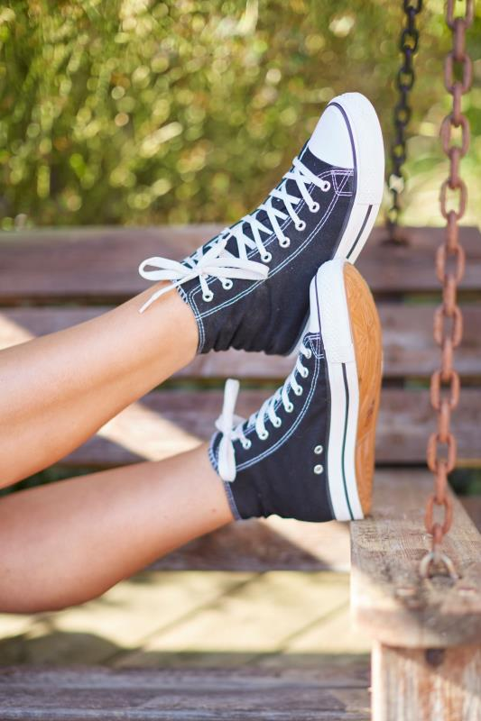 Black Canvas High Top Trainers In Wide Fit_L.jpg