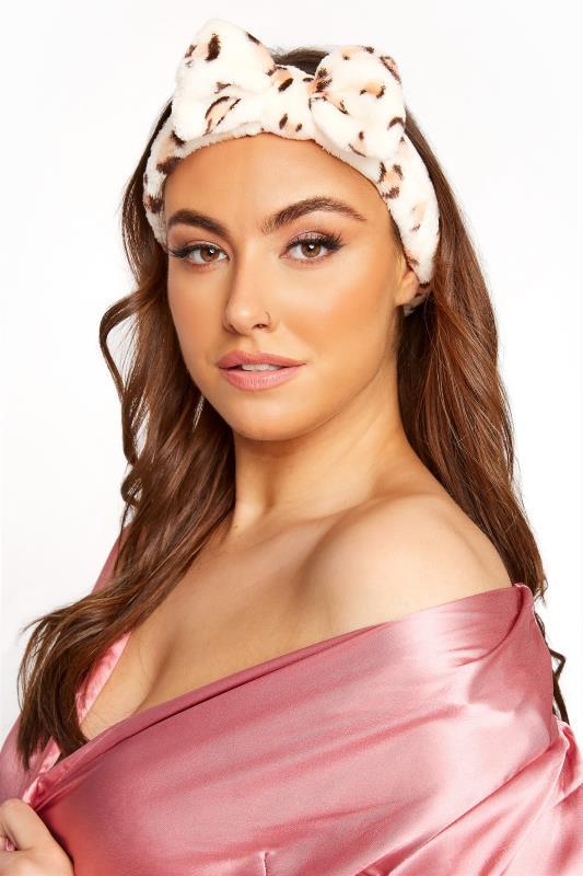 Plus Size  Beige Leopard Beauty Headband