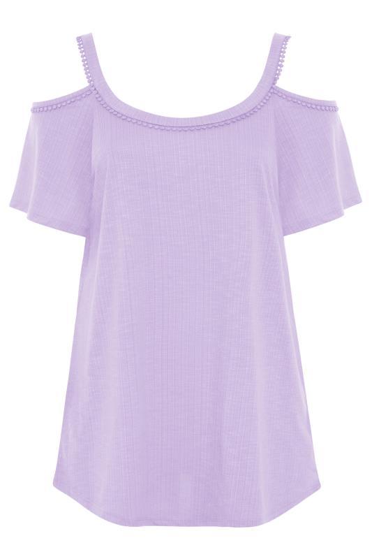 Lilac Cold Shoulder Strap T-Shirt_F.jpg