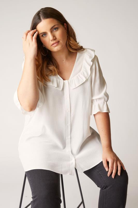 THE LIMITED EDIT White Button Frill Blouse_E.jpg