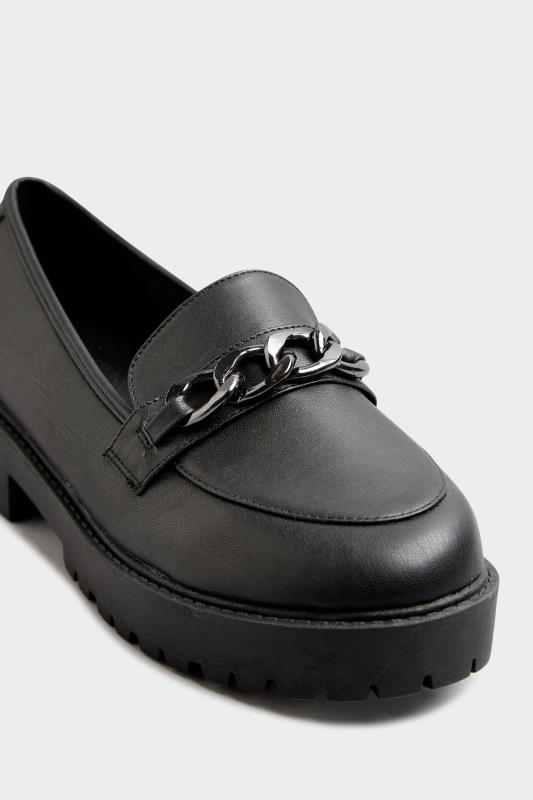 LIMITED COLLECTION Black Chunky Loafers In Extra Wide Fit_E.jpg