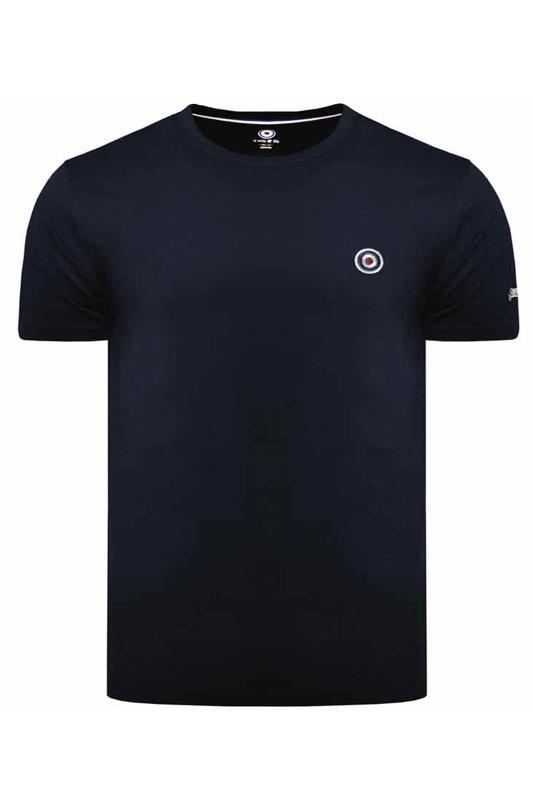 Plus Size  LAMBRETTA Navy Logo Cotton T-Shirt