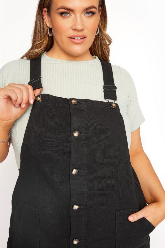 LIMITED COLLECTION Black Button Front Pinafore Dress_D.jpg