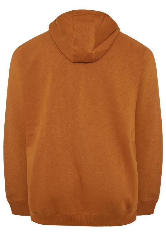 BLEND Orange Printed Zip Through Sweat Hoodie_BK.jpg