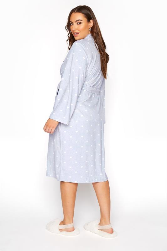 Powder Blue Flannel Fleece Heart Dressing Gown_C.jpg