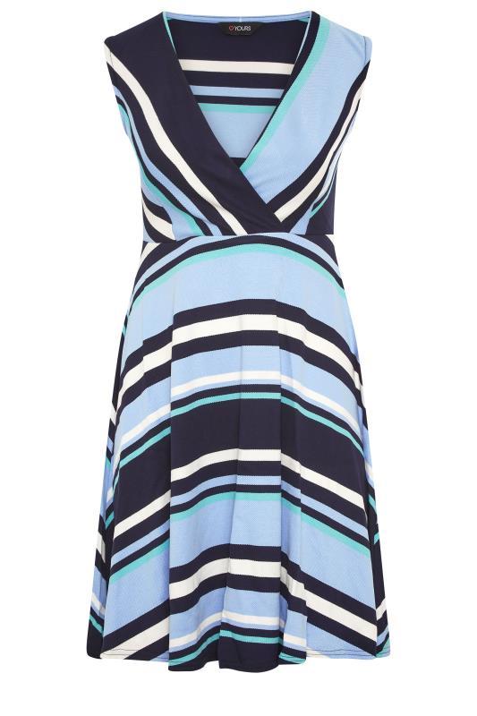 Light Blue Stripe Wrap Skater Dress_F.jpg