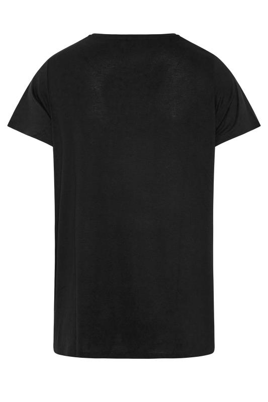 Black Short Sleeve 'Sunset' Slogan Printed T-Shirt_BK.jpg