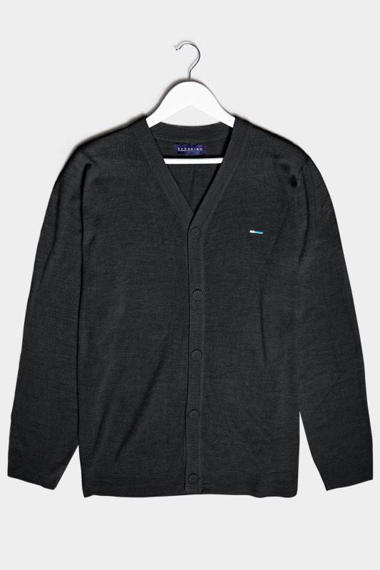 Men's  BadRhino Black Essential Knitted Cardigan