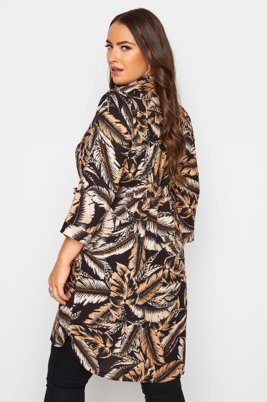 Black Leaf Print Shirt Dress_C.jpg