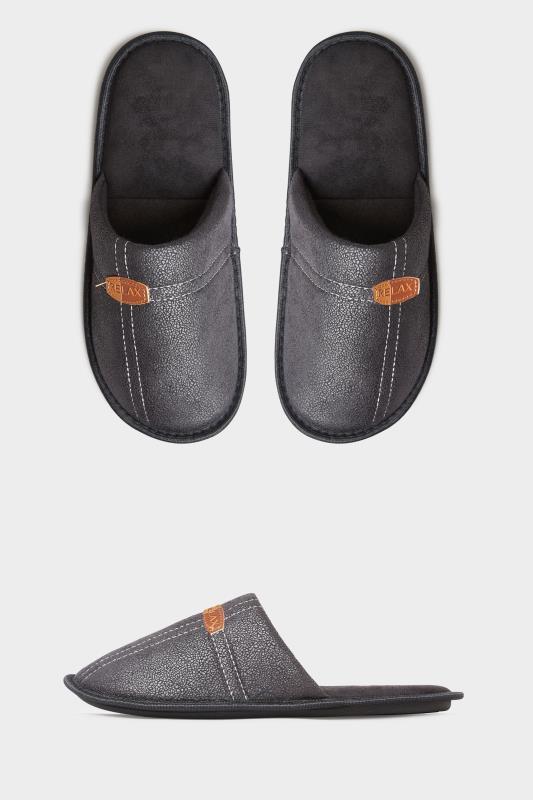 Men's  BadRhino Black Mule Slippers