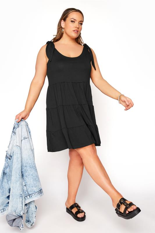 LIMITED COLLECTION Black Tiered Jersey Dress_B.jpg