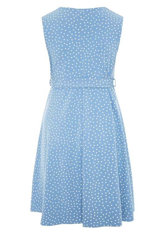 YOURS LONDON Blue Polka Dot Skater Dress_BK.jpg