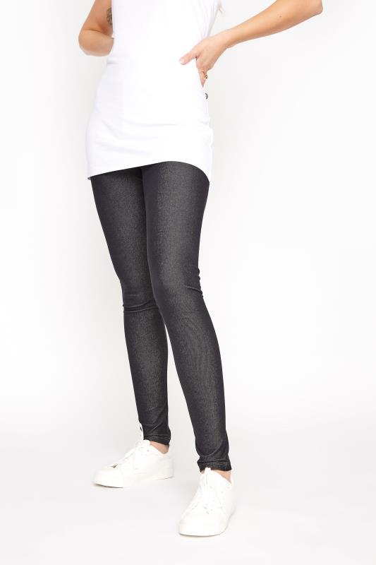 LTS Black Jersey Jeggings