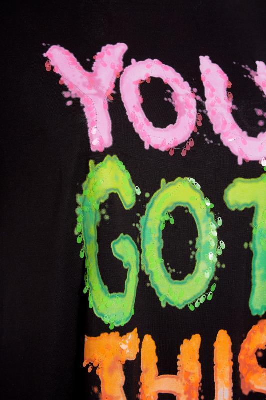 Black Sequin 'You Got This' Slogan T-Shirt_S.jpg
