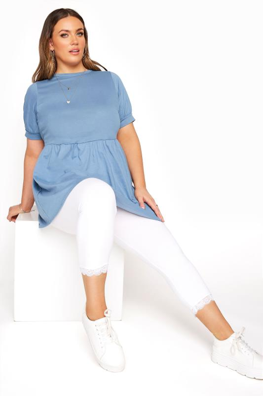 White Cotton Essential Cropped Leggings With Lace Detail_A.jpg