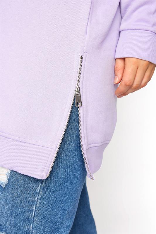 Super Soft Hand Feel Lilac Side Zip Sweatshirt_E.jpg