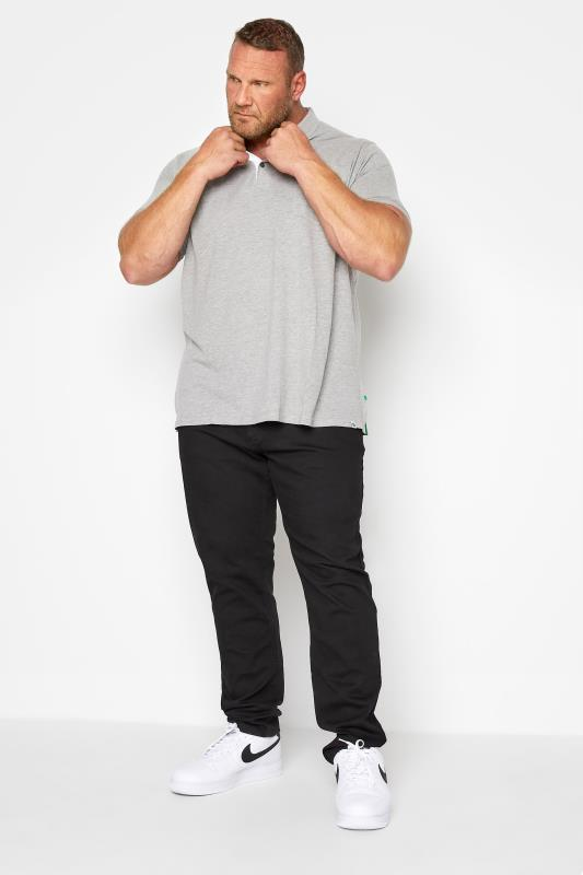 Men's Tapered D555 Black Tapered Stretch Jeans