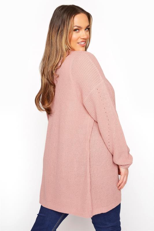 Dusky Pink Knitted Pointelle Cardigan_C.jpg