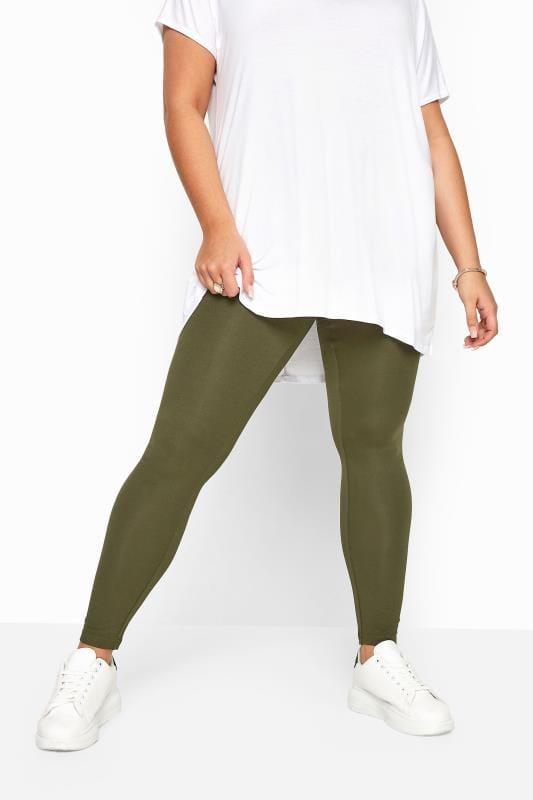Khaki Basic Leggings