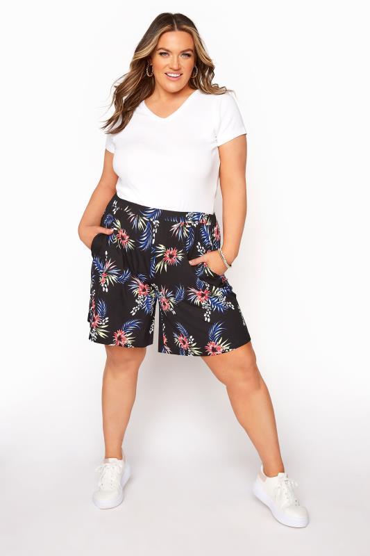 Black Palm Jersey Shorts_B.jpg