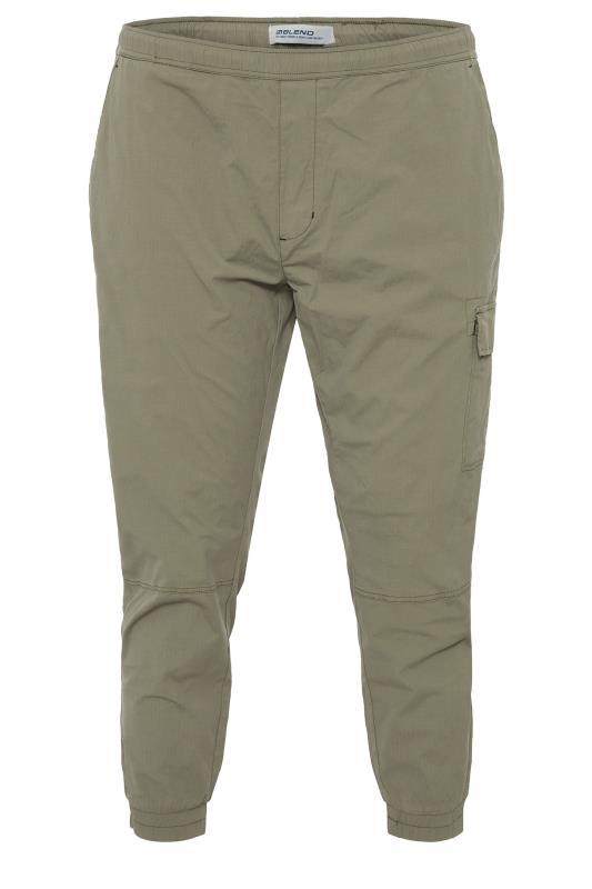 Plus Size  Blend Khaki Cargo Trousers