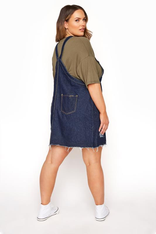 LIMITED COLLECTION Dark Blue Distressed Pinafore Dress_C.jpg