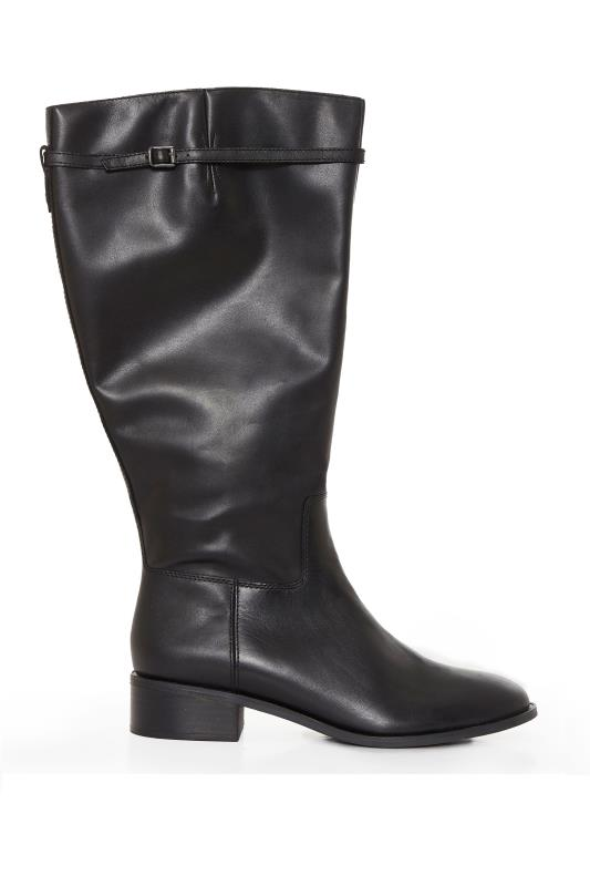 FRANCO SARTO Black Belaire Leather Calf Boots