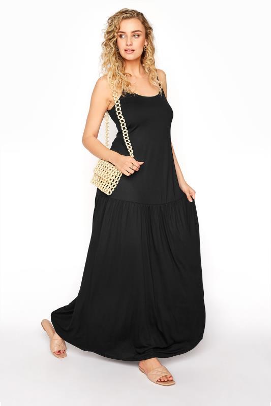 LTS Black Strappy Drop Waist Maxi Dress_B.jpg