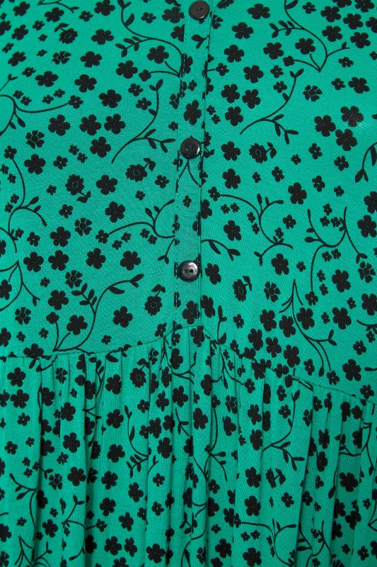 LIMITED COLLECTION Green Floral Button Midaxi Dress_S.jpg