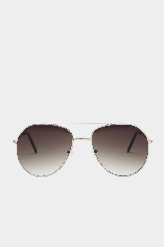Silver Frame Aviator Sunglasses