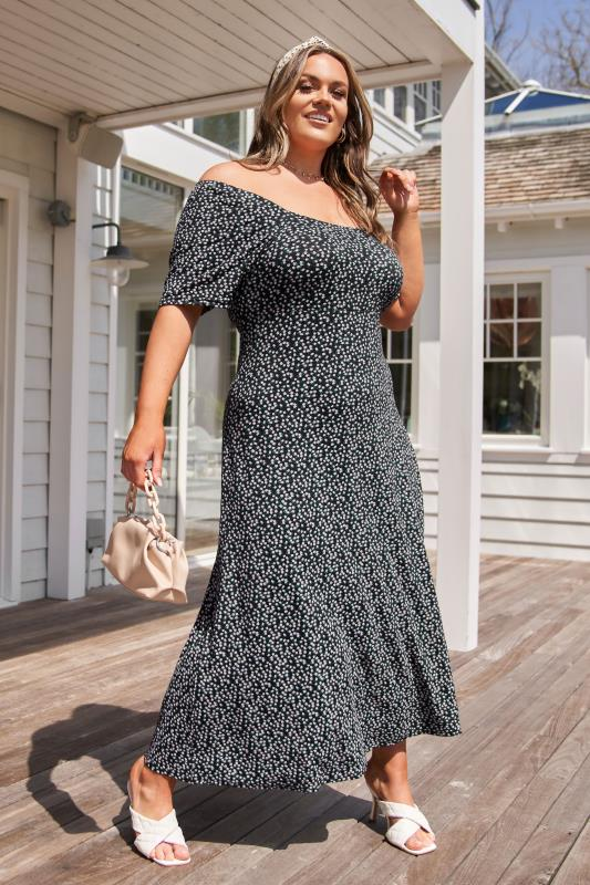 LIMITED COLLECTION Black Ditsy Floral Square Neck Maxi Dress_L.jpg