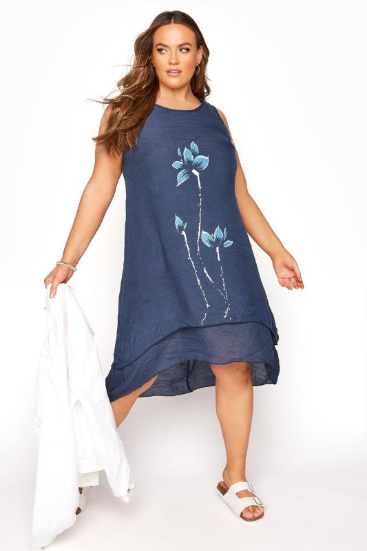 Navy Floral Double Layer Dress_B.jpg